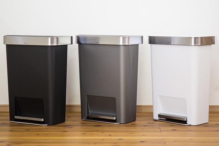 ゴミ箱 シンプルヒューマン プラスチック レクタンギュラーステップカン
